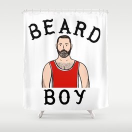 Beard Boy: Laurent Shower Curtain