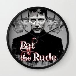 Eat the Rude ( Hannibal ) 2 Wall Clock