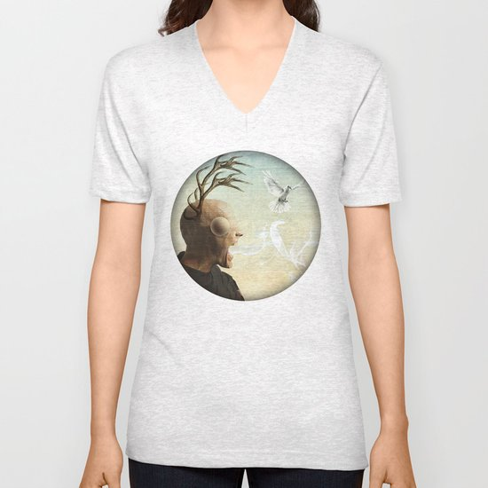 polarity of odds Unisex V-Neck