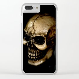 Antiqued Skul Clear iPhone Case