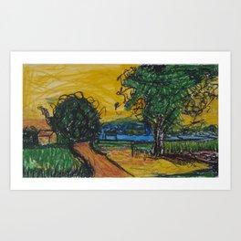 Inspired by Van Art Print