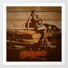 Hazzard Wood Art Print