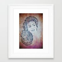 lana Framed Art Prints featuring Lana by Rabassa