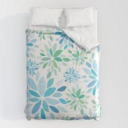 Nature's Healing Mandala Blue Comforters