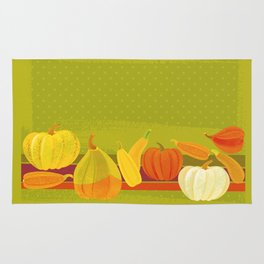 Autumn Pumpkins Rug