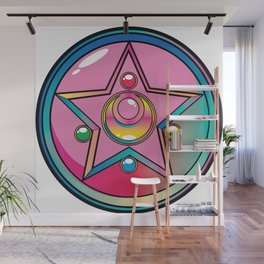 Magical Moon Neon Compact Wall Mural