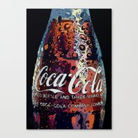 coca cola Canvas Prints featuring The Real.... by LesImagesdeJon
