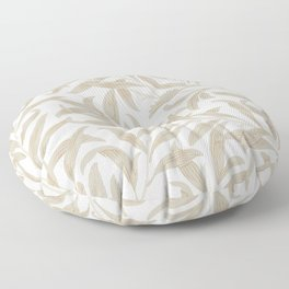Delicate Leaf Pattern Floor Pillow