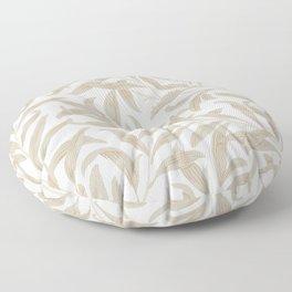 Delicate Leaf Pattern Floor Pillow