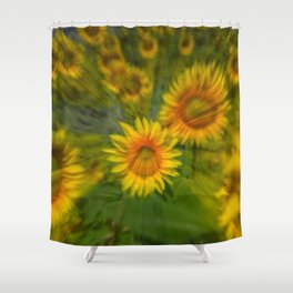 SUNFLOWERS 5 Shower Curtain