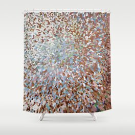 A New Day in Living Coral Juul Shower Curtain