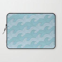 Blue Sea Waves Laptop Sleeve