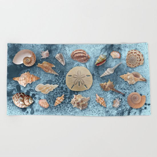 Seashells collection #1 Beach Towel