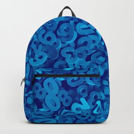 C13D NUMBERS blue Backpack