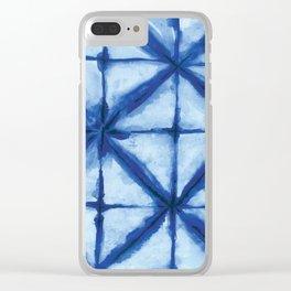 Shibori Clear iPhone Case