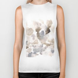 180630 Grey Abstract Watercolour Black Brown 12 | Watercolor Brush Strokes Biker Tank