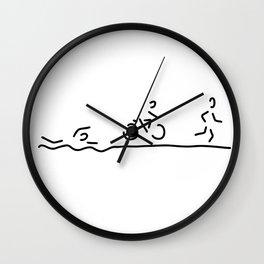 triathlon triathlet Wall Clock