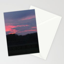 Purple and Pink Sunset Stationery Cards