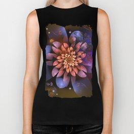 Cosmic flowers in universe Biker Tank