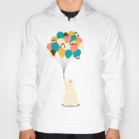 penguin Hoodies featuring Penguin Bouquet by Jay Fleck