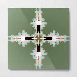 Pantone Plus Feathered Kale Circles Metal Print