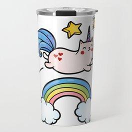 Cat Unicorn Travel Mug