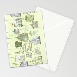 Bird cages Stationery Cards
