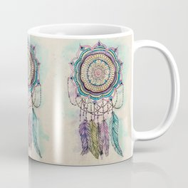 Modern tribal hand paint dreamcatcher mandala design Coffee Mug