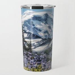 Scenic Art, Mt. Rainier, Mt. Rainier National Park, Spray Park Travel Mug