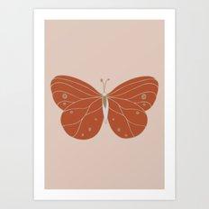 Minimalist Butterfly Art Art Print