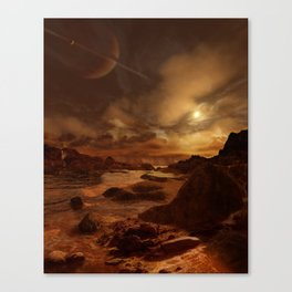After the Methane Storm on Titan Canvas Print