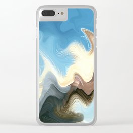 Hair Puzzle: digital abstract art Clear iPhone Case