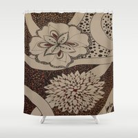 fierce Shower Curtains featuring Fierce by fawnadine