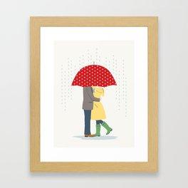 Raindrops Keep Fallin' Framed Art Print
