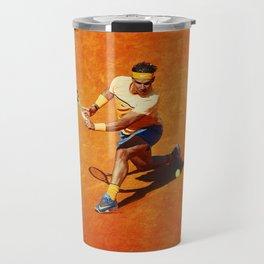 Rafael Nadal Sliced Backhand Travel Mug