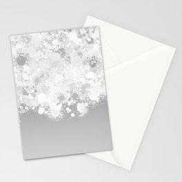 paint splatter on gradient pattern bwmbi Stationery Cards