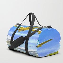 Airliner Pop Art Duffle Bag