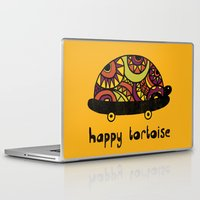 tortoise Laptop & iPad Skins featuring Happy Tortoise by Farnell