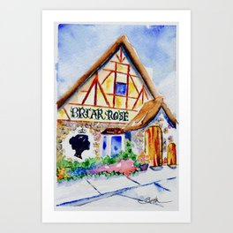 Briar Rose Bakery Art Print