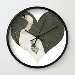 Mother Swan IV Wall Clock