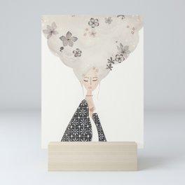 HAIR IN THE CLOUDS Mini Art Print