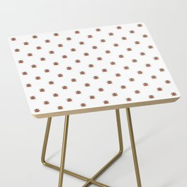 Lucky Ladybug Watercolor Print Pattern Side Table