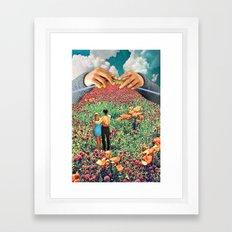 Neat Knitting Framed Art Print