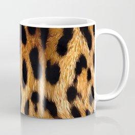 Vegan Leopard Skin Animal Fur Design Coffee Mug