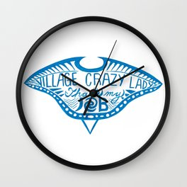 Village Crazy Lady Wall Clock