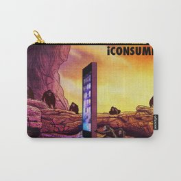 Ape Men meet iPhone Monolith - 2001 A Space Odyssey iCONSUME Carry-All Pouch