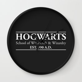 Hogwarts School of Witchcraft & Wizardry (Black) Wall Clock