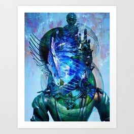Dakini Wisdom Goddess #6 Blue Mystique Art Print