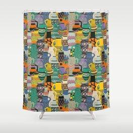 West Germany Vintage Vases by Veronique de Jong Shower Curtain