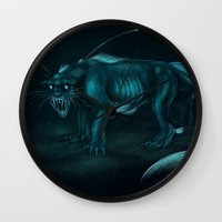 pocket fuel Wall Clocks featuring Nightmare Fuel by Nairas Products
